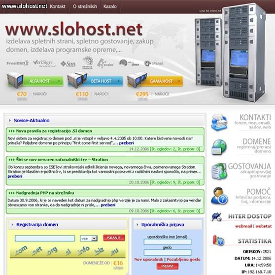 referenca spletna stran slohost diskom
