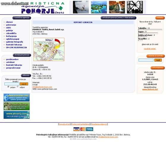 turisticna agencija pohorje-tours