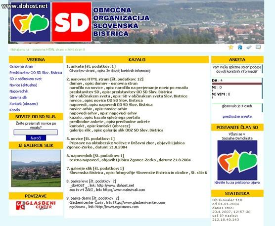 referenca socialni demokrati obmocna organizacija slov bistrica