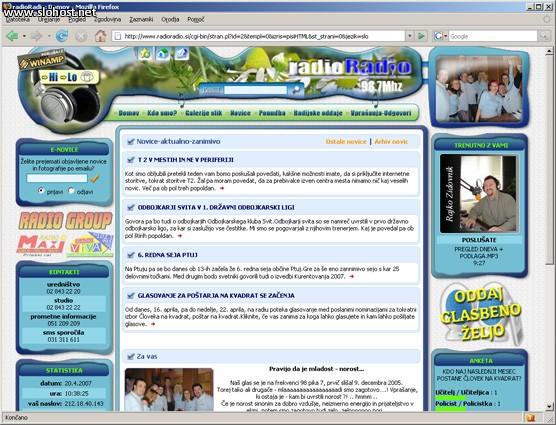 spletna stran radioradio winamp referenca