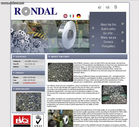 rondal izdelava aluminijskih rondelic