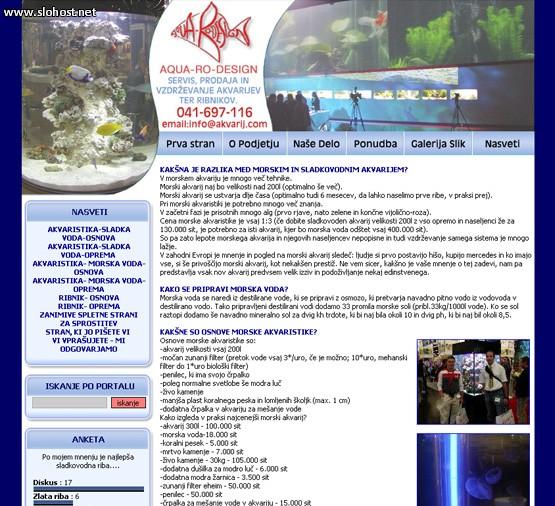 izdelava ribnikov akvarijev morske ribe