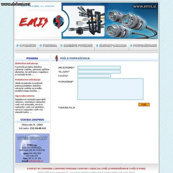 elektro instalacije in ogrevanje emis