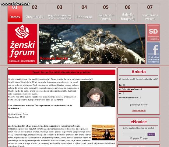 izdelana spletna stran zenski-forum